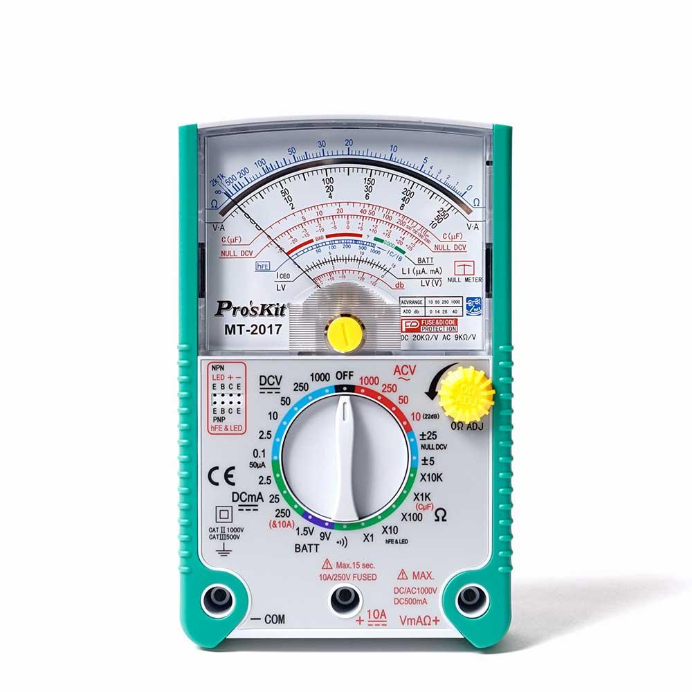 指針型防誤測三用電表
